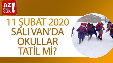 11 Şubat 2020 Salı Van'da okullar tatil mi?