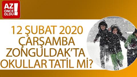 12 Şubat 2020 Çarşamba Zonguldak'ta okullar tatil mi?