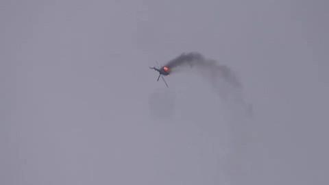 İdlib'de rejime ait helikopter düşürüldü!