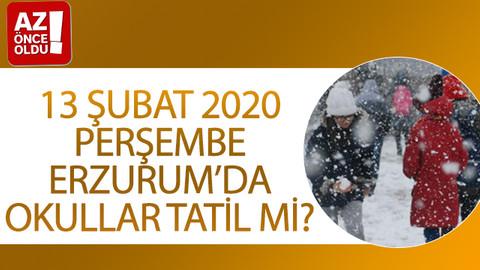 13 Şubat 2020 Perşembe Erzurum'da okullar tatil mi?