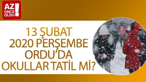 13 Şubat 2020 Perşembe Ordu'da okullar tatil mi?
