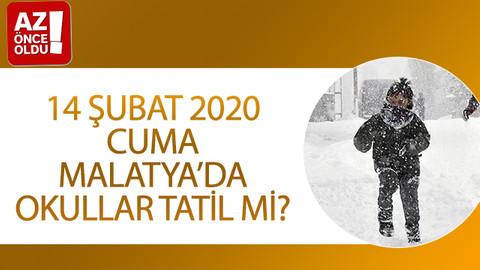 14 Şubat 2020 Cuma Malatya'da okullar tatil mi?