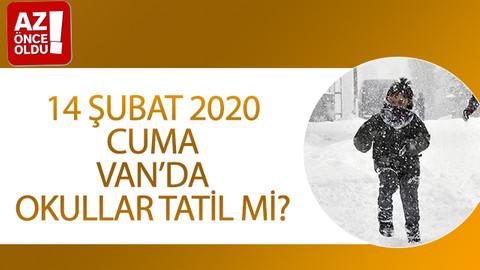 14 Şubat 2020 Cuma Van'da okullar tatil mi?