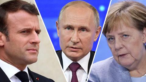 Merkel ve Macron'dan Putin'e İdlib çağrısı: Derhal son bulsun