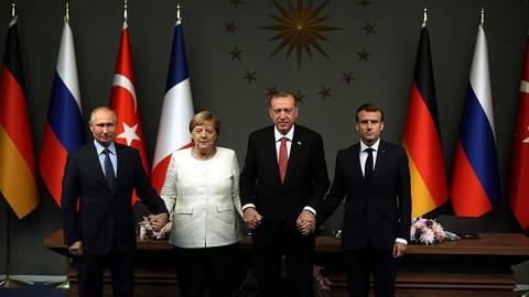 Macron ve Merkel'den 'Dörtlü İstanbul Zirvesi' çağrısı!