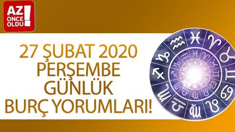 27 Şubat 2020 Perşembe günlük burç yorumları!