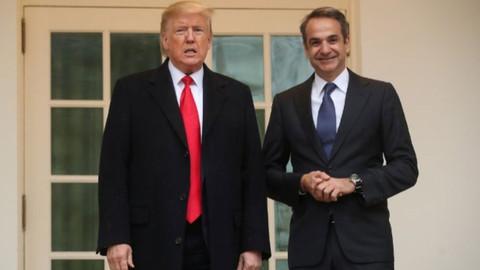Trump ve Miçotakis arasında mülteci görüşmesi!
