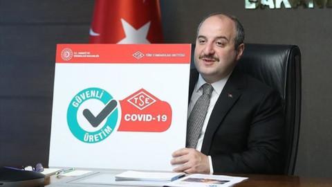 Bakan Varank açıkladı: Güvenli üretim belgeleri verilmeye başlandı
