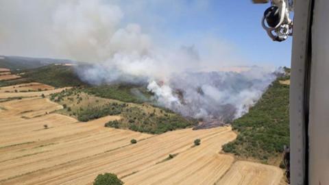 Gelibolu'da yangın