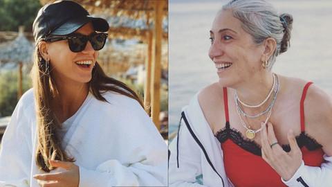 Serenay Sarıkaya'dan annesi ile poz: Analı kızlı