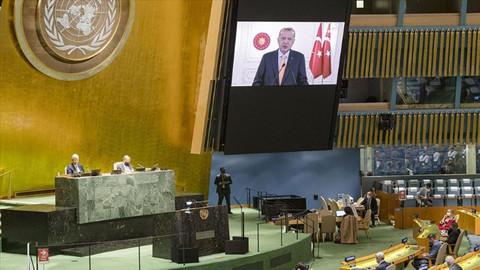 Cumhurbaşkanı Erdoğan'ın İsrail'e yönelik eleştirileri, BM'de İsrail Büyükelçisi'ne salonu terk etti