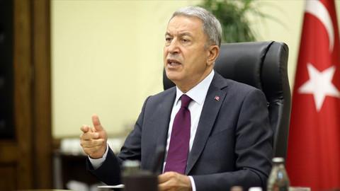 Bakan Akar'dan Doğu Akdeniz mesajı: Menfaatlerimizi koruyacağız