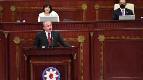 Meclis Başkanı Şentop Azerbaycan'da: Ermenistan sivilleri öldürmeyi devlet politikası yaptı