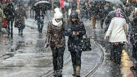 İstanbul'da kar yağışı 4 gün sürecek