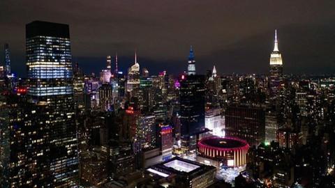 New York şehir ışıkları havadan görüntülendi