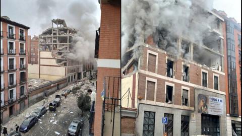 İspanya'nın başkenti Madrid'de bir binada şiddetli patlama