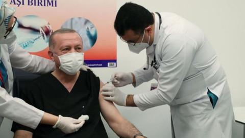 Cumhurbaşkanı Erdoğan aşının ikinci dozunu yaptırdı