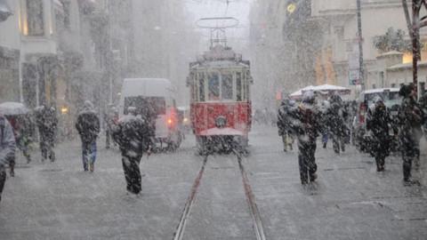 İstanbul'da kar fırtınası! Sibirya soğukları geldi