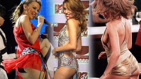 Kylie Minogue öyle bir şov yaptı ki, kalçalarını tokatladı