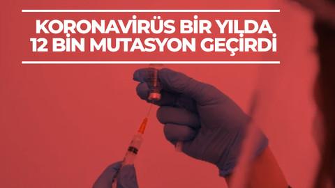 Koronavirüs bir yılda 12 bin mutasyon geçirdi