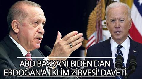 ABD Başkanı Biden'dan Erdoğan'a 'İklim Zirvesi' daveti