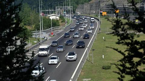 Kurban Bayramı trafiği havadan denetimlerle takip ediliyor