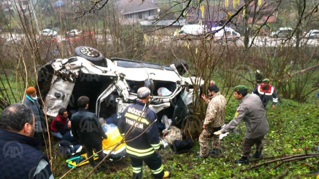 Düzce'nin Gölkaya ilçesinde trafik kazası meydana geldi. Son dakika Düzce haberleri