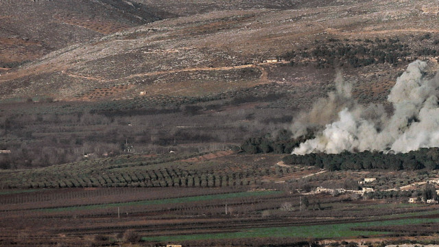 Son dakika Afrin haberleri... Özgür Suriye Ordusu (ÖSO) ve PYD arasındaki çatışmadan görüntüler...