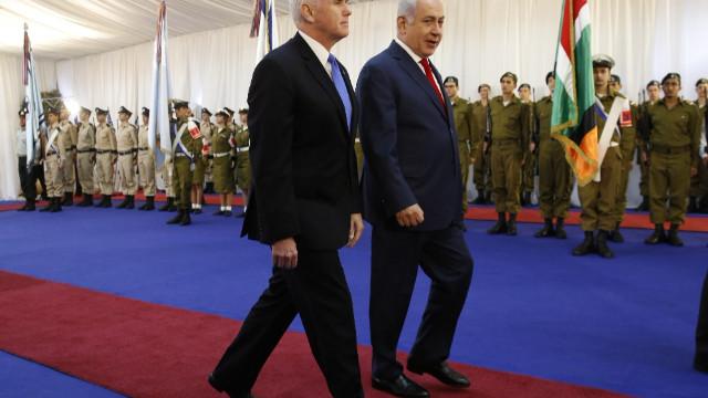 Son dakika dünya ve orta doğu haberleri.. ABD Başkan Yardımcısı Pence ile Netenyahu Kudüs'te görüştü