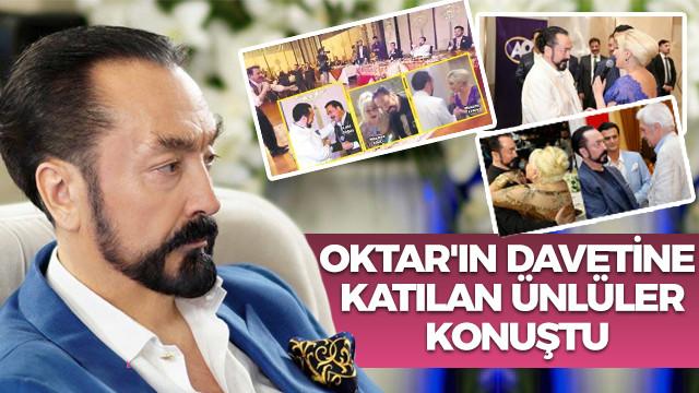 Oktar'ın davetine katılan ünlüler konuştu