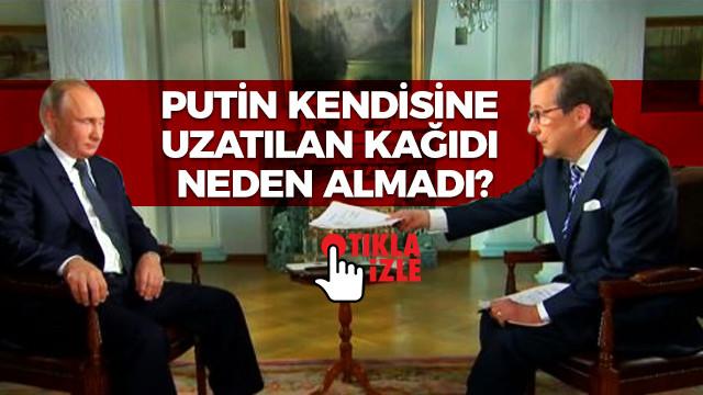 Putin kendisine uzatılan kağıdı neden almadı?