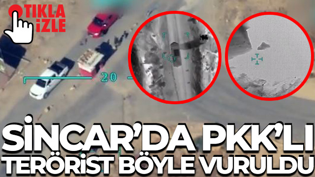 TSK, kırmızı listede aranan teröristin etkisiz hale getirilme anını paylaştı (Video haber)