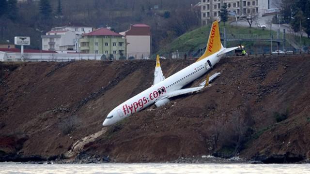 Trabzon'da pistten çıkan uçağın akıbeti belli oldu!