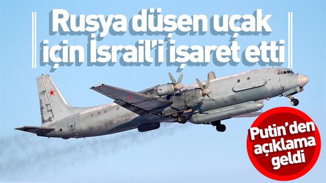 Putin'den Suriye'de düşen Rus uçağı hakkında açıklama