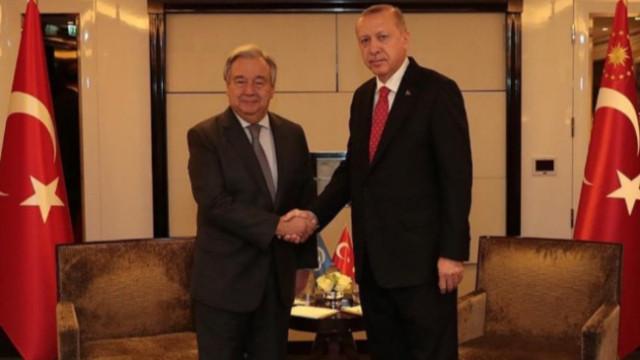 Cumhurbaşkanı Erdoğan BM Genel Sekreteri ile görüştü