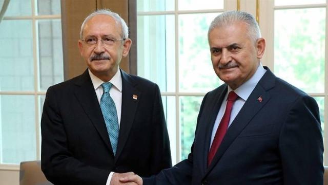 Kılıçdaroğlu ve Binali Yıldırım Meclis'te bir araya geldi