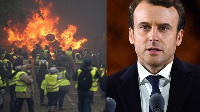 Macron geri adım attı! Akaryakıt zammını askıya aldı