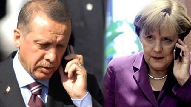Cumhurbaşkanı Erdoğan Almanya Başbakanı Merkel'le telefonda görüştü