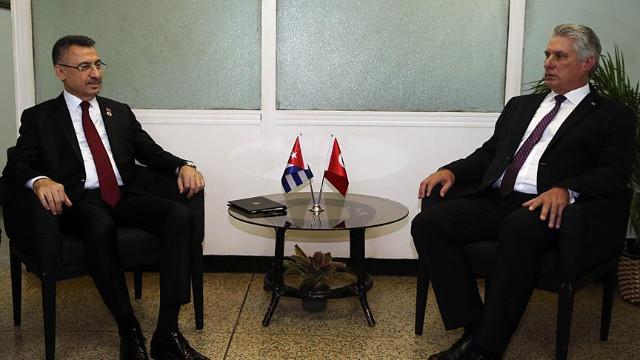 Fuat Oktay Küba Devlet Başkanı Canel ile görüştü