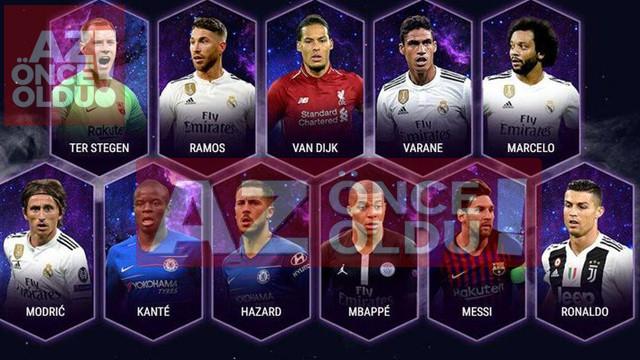 UEFA Yılın 11'nde kimler var? Messi, Ronaldo listede mi?