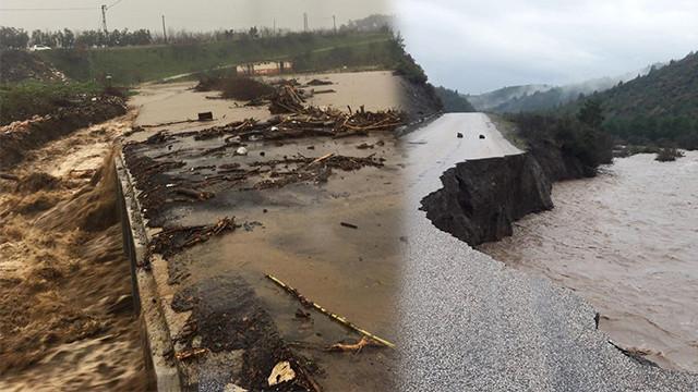İzmir'de köprü çöktü... İşçiler mahsur kaldı
