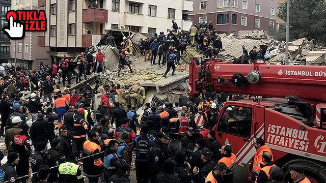 İşte Kartal'daki binanın çökme anları