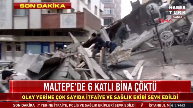 Kartal'da 6 katlı bina neden çöktü? Kartal'da çöken binada ölü var mı?