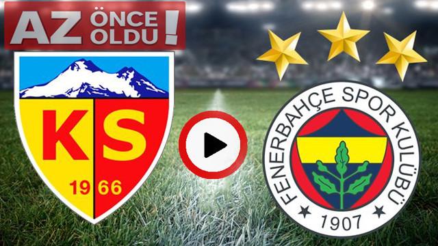 Kayserispor Fenerbahçe maçı canlı izle   Kayserispor - Fenerbahçe şifresiz canlı İZLE   Bein Sport
