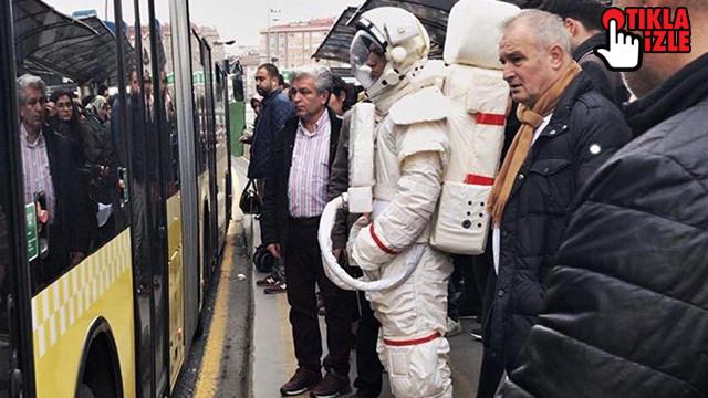 Metrobüsteki astronotun sırrı ortaya çıktı