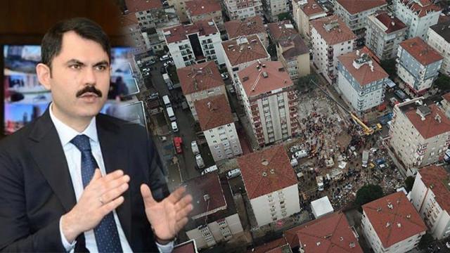 Bakan Kurum açıkladı: Riskli 8 bina yıkılacak
