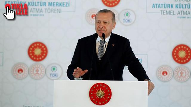 Cumhurbaşkanı Erdoğan Atatürk Kültür Merkezi'nin temelini attı