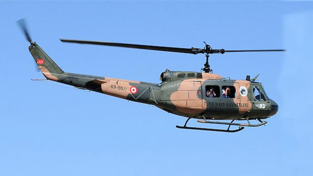 UH-1H model askeri helikopterin uçuşu durduruldu
