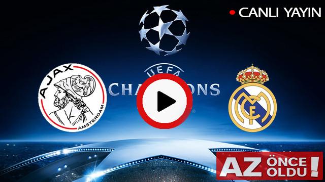 CANLI İZLE | Ajax Real Madrid maçı şifresiz canlı izle | Ajax Real Madrid CANLI İZLE