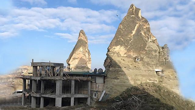 Peri Bacaları'ndaki inşaat durduruldu